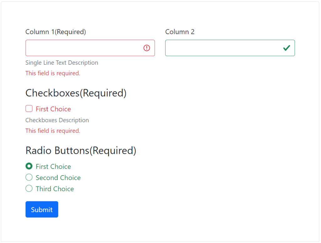Gravity Forms Bootstrap 5 Markup and Styles